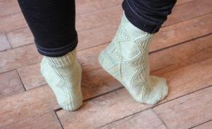 {Tricot} Twisted Argyle socks – KnitCrate box octobre 2018