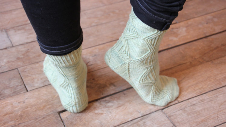 {Tricot} Twisted Argyle socks – KnitCrate box octobre 2018