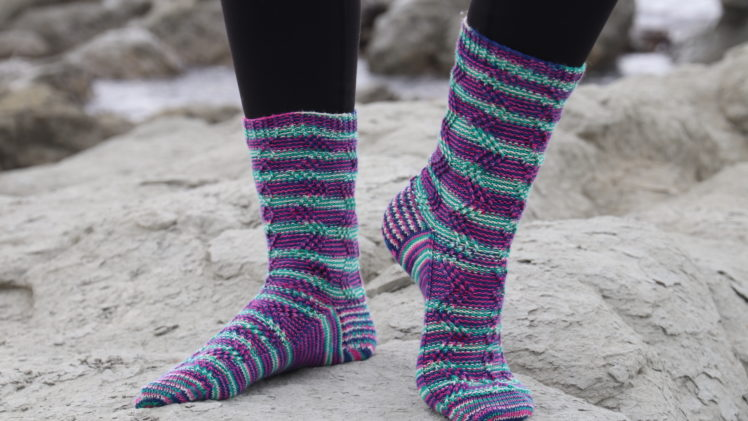 {Tricot} Striped Lightning socks – KnitCrate box février 2019