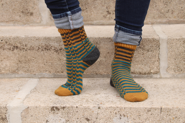 {Tricot} Scrap'N'Stripes socks