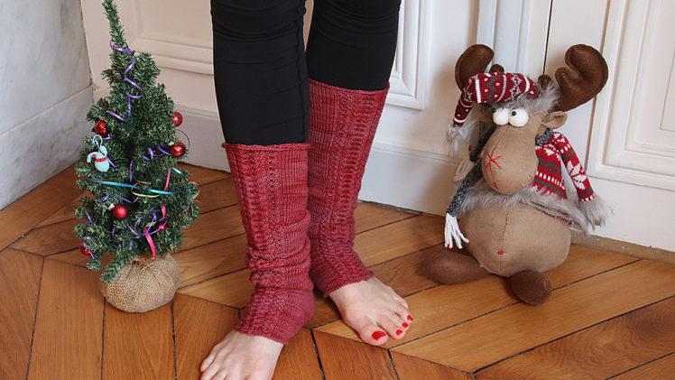 {Tricot} Les guêtres Warm for Christmas – patron pour Écheveau Solidaire