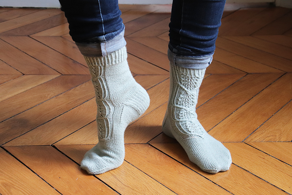 {Tricot} Cloudchaser socks – KnitCrate Février 2020