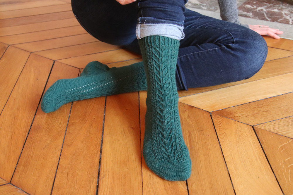 {Tricot} Holly socks – KnitCrate Décembre 2019
