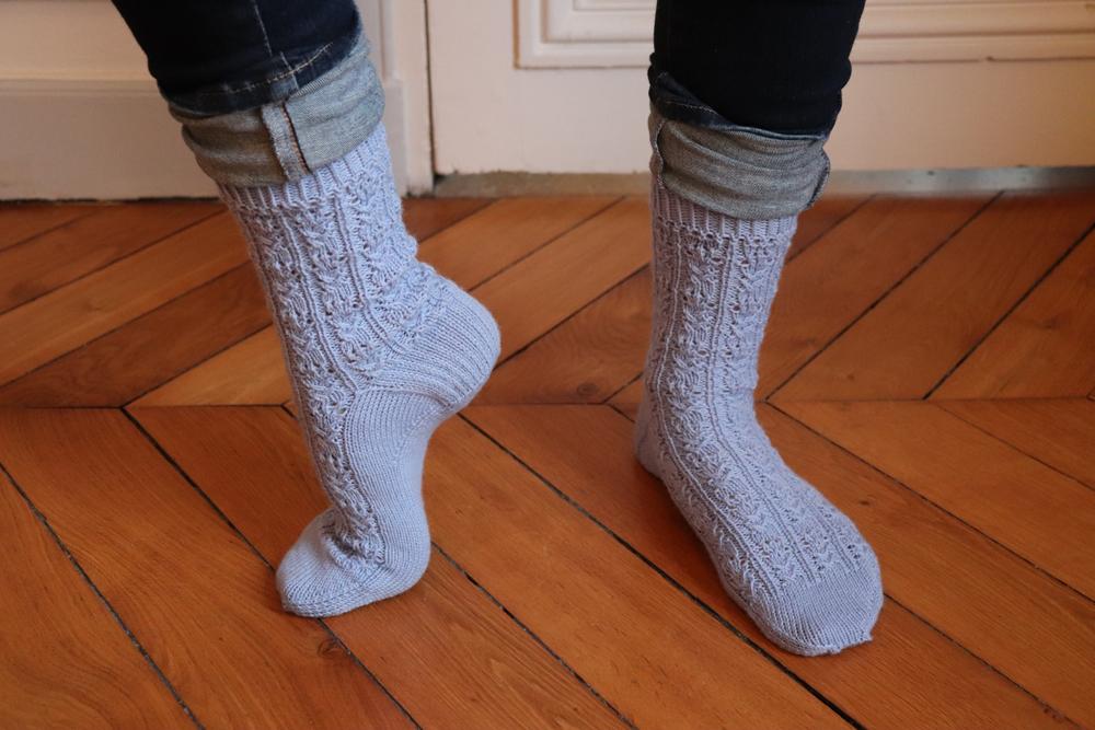 {Tricot} Cactus Flower Socks – KnitCrate août 2020