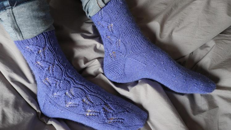 {Tricot} Leaf Dance Socks – KnitCrate mars 2019 + janvier 2021