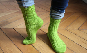 {Tricot} Twist Spring socks