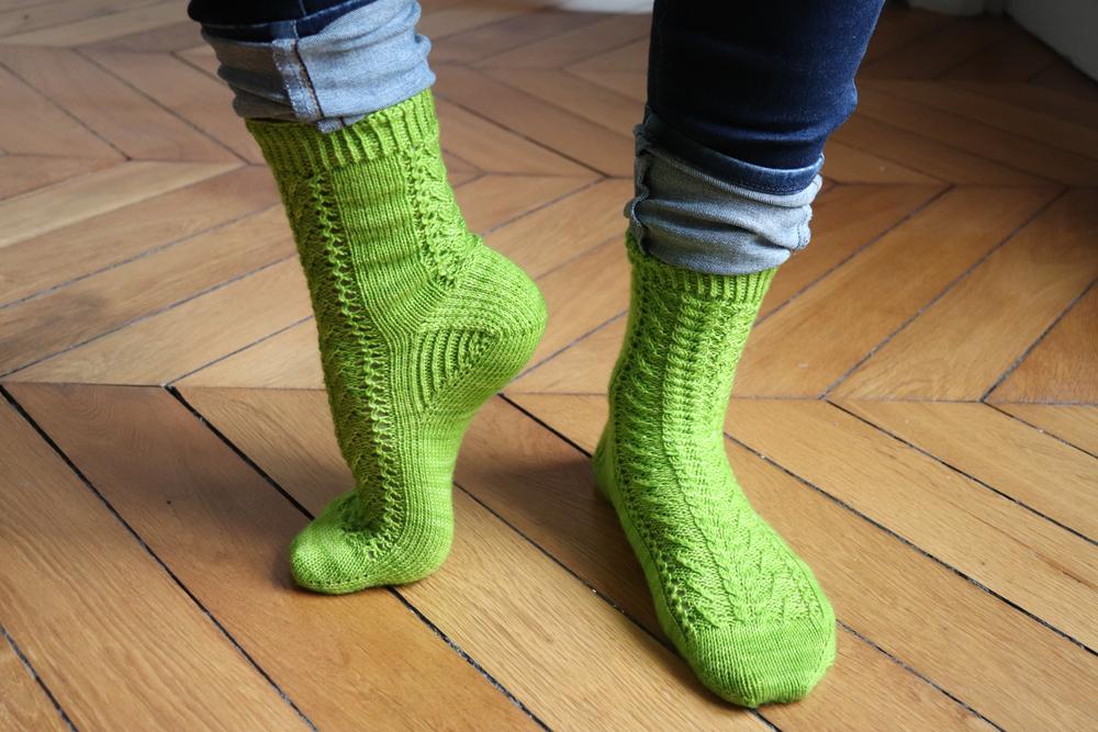 {Tricot} Twist Spring socks