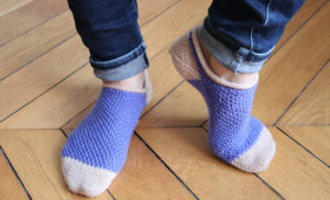 {Tricot} Simple textured ankle socks